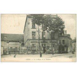 carte postale ancienne 58 COSNE-SUR-LOIRE. Collège et Théâtre 1917