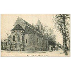 carte postale ancienne 58 COSNE-SUR-LOIRE. Eglise Saint-Aignan 1265
