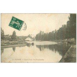 carte postale ancienne 58 COSNE-SUR-LOIRE. Gare d'eau des Fouchards 1912