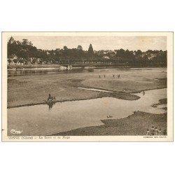 carte postale ancienne 58 COSNE-SUR-LOIRE. La Plage