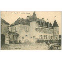 carte postale ancienne 58 COSNE-SUR-LOIRE. Le Château de Jérusalem 1912 animé