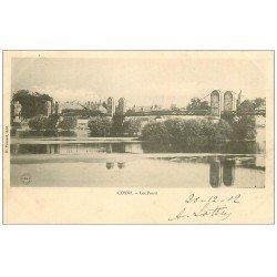 carte postale ancienne 58 COSNE-SUR-LOIRE. Les Ponts 1902