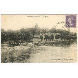 carte postale ancienne 58 COSNE-SUR-LOIRE. Les Quais