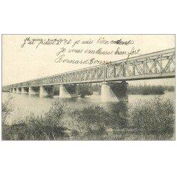 carte postale ancienne 58 COSNE-SUR-LOIRE. Pont du P.O 1920