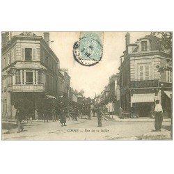 carte postale ancienne 58 COSNE-SUR-LOIRE. Rue du 14 Juillet 1905 Confection Bredard
