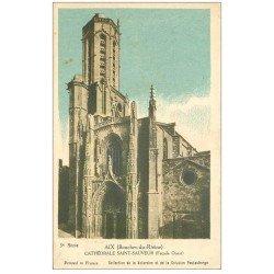 carte postale ancienne 13 AIX-EN-PROVENCE. Cathédrale Saint-Sauveur. Carte non postale collection de la Kolarsine