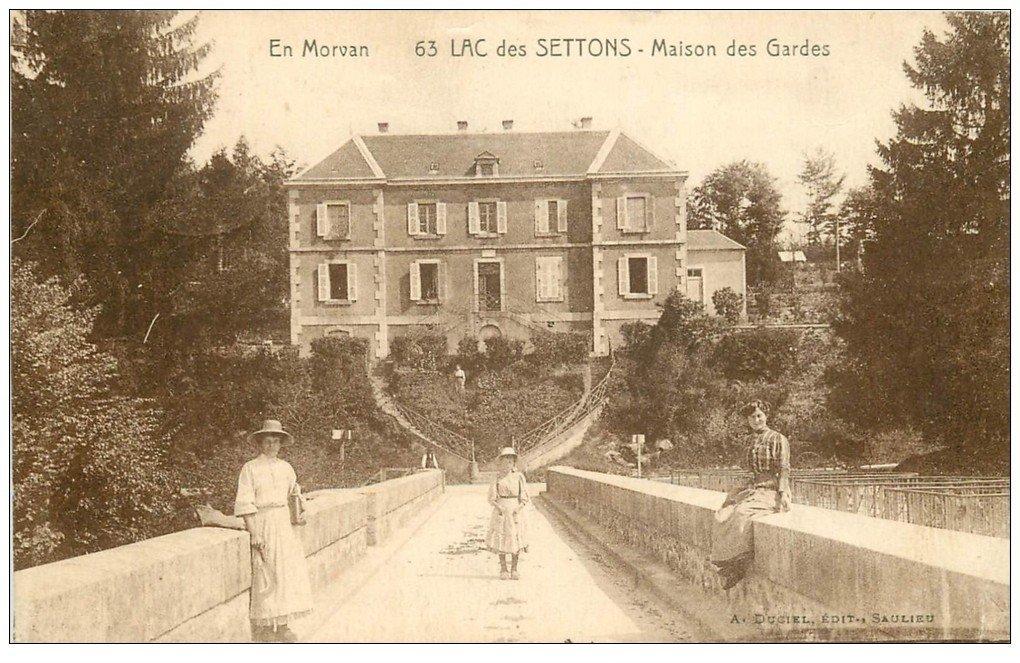58 lac des settons maison des gardes 1930 for Ancienne maison des gardes