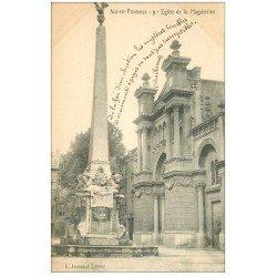 carte postale ancienne 13 AIX-EN-PROVENCE. Eglise de Magdeleine