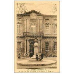 carte postale ancienne 13 AIX-EN-PROVENCE. Faculté des Sciences et Statue de Peyrès