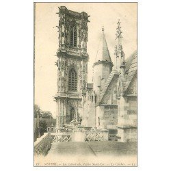 carte postale ancienne 58 NEVERS. Cathédrale Saint-Cyr Clocher 1915
