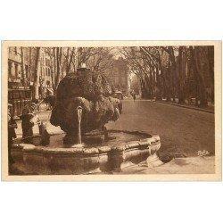 carte postale ancienne 13 AIX-EN-PROVENCE. Fontaine Cours Mirabeau