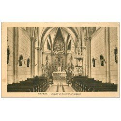 carte postale ancienne 58 NEVERS. Couvent Saint-Gildard Chapelle 1928