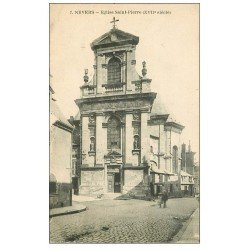 carte postale ancienne 58 NEVERS. Eglise Saint-Pierre 1933