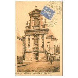 carte postale ancienne 58 NEVERS. Eglise Saint-Pierre vers 1934