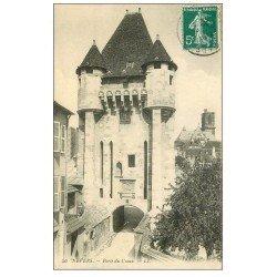 carte postale ancienne 58 NEVERS. La Porte du Croux 1910
