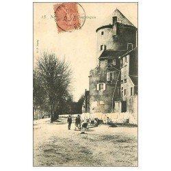carte postale ancienne 58 NEVERS. Ouvriers Tour Goguin 1905