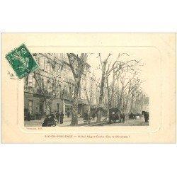 carte postale ancienne 13 AIX-EN-PROVENCE. Hôtel Nègre-Coste Cours Mirabeau 1913
