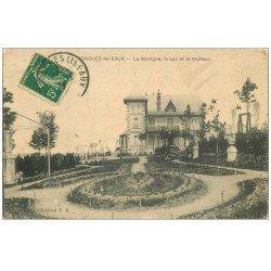 58 POUGUES-LES-EAUX. La Montjaie, Lac et Château 1913. Destinataire J. Millet à Bourges Peintre Décorateur