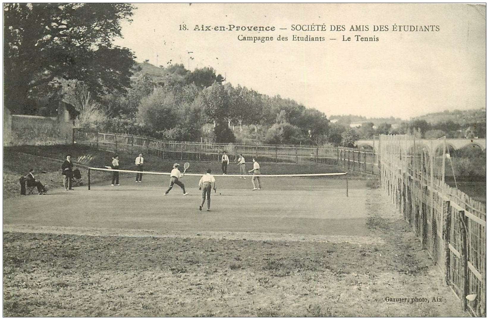 13 aix en provence le tennis soci t des amis des etudiants 1922. Black Bedroom Furniture Sets. Home Design Ideas