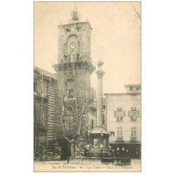 carte postale ancienne 13 AIX-EN-PROVENCE. Mairie et Tour de l'Horloge