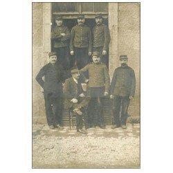 carte postale ancienne 58 Superbe et Rare Carte Photo de Militaires. Edition Biaud 22 Rue Saint-Agnan à Cosne