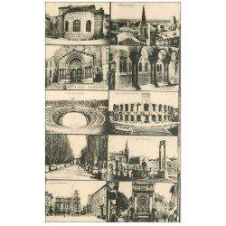 carte postale ancienne 13 ARLES. Multivues