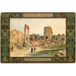 carte postale ancienne 13 ARLES. Théâtre Romain. Carte notice