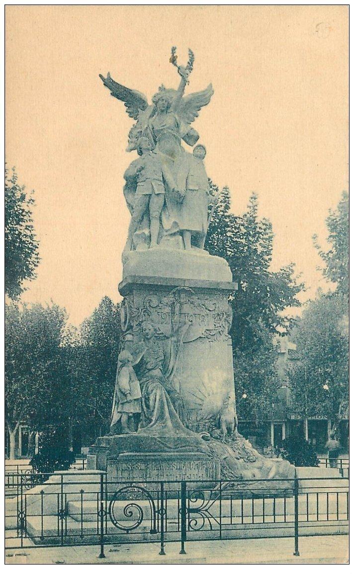 carte postale ancienne 13 AUBAGNE. Monument de la Victoire Cours Maréchal Foch 1927