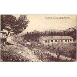 carte postale ancienne 13 CAMP-DE-CARPIAGNE. Le Bâtiment des Officiers. Marche militaire des Poilus