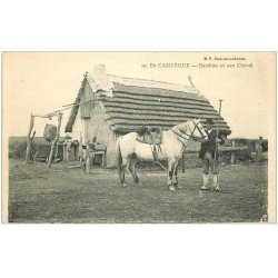 carte postale ancienne 13 En CAMARGUE. Gardian et son Cheval