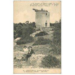carte postale ancienne 13 FONTVIEILLE. Le Moulin de Daudet