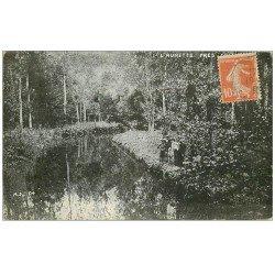 carte postale ancienne 60 AUNETTE. Promeneurs près de Senlis 1916