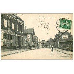 60 AUNEUIL. Rue de Noailles 1913 La Ruche Picarde. Comptoir d'Alimentation à prix réduits. Panneau Belle Jardinière