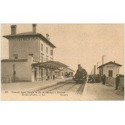 carte postale ancienne 13 ISTRES. Train dans la Gare. Ligne d´Estaque à Miramas