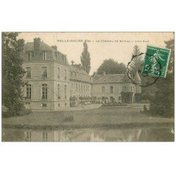 carte postale ancienne 60 BELLE-EGLISE. Château de Saint-Just 1908 petite animation