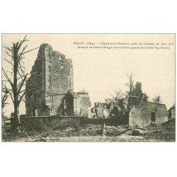 carte postale ancienne 60 BELLOY. Eglise et Cimetière vers 1918
