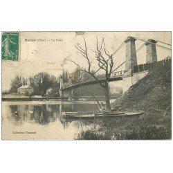 carte postale ancienne 60 BORAN. Le Pont 1910 (état moyen)