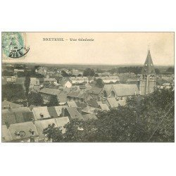 carte postale ancienne 60 BRETEUIL SUR NOYE. Vue générale vers 1908