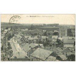 carte postale ancienne 60 BRETEUIL SUR NOYE. Vue vers les Ecoles 1920