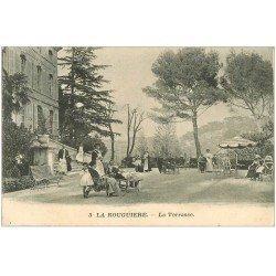 carte postale ancienne 13 LA ROUGUIERE. La Terrasse du Sanatorium 1913
