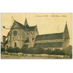 carte postale ancienne 60 BURY. Le Village 1916 superbe carte toilée (timbre absent)...