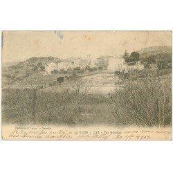 carte postale ancienne 13 LA TREILLE. Vue du Village 1903 (minuscule coupure 1mm)...