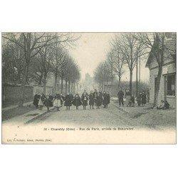 carte postale ancienne 60 CHAMBLY. Café du Bel-Air Rue de Paris arrivée de Beaumont