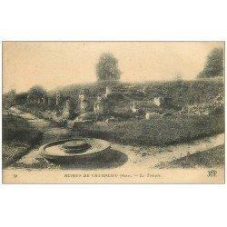 carte postale ancienne 60 CHAMPLIEU. Les Ruines du Temple