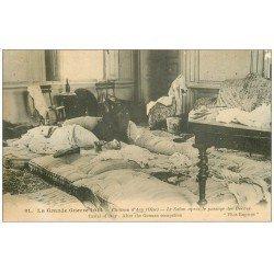 carte postale ancienne 60 CHATEAU D'ACY. Le Salon dévasté