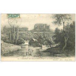 carte postale ancienne 60 CHATEAU DE MELLO. Vieille gravure 1907