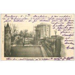 carte postale ancienne 60 CREPY-EN-VALOIS. Château de Vez en restauration 1903 échaffaudages