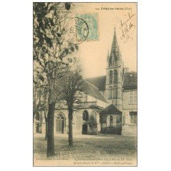carte postale ancienne 60 CREPY-EN-VALOIS. Eglise Saint-Denis 1906
