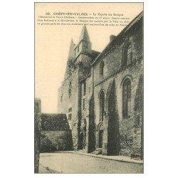 carte postale ancienne 60 CREPY-EN-VALOIS. Façade du donjon
