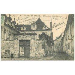 carte postale ancienne 60 CREPY-EN-VALOIS. Maison de Saint-joseph 1906